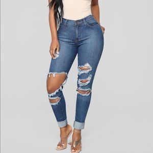 2 for $50💕fashion nova beach bum jeans